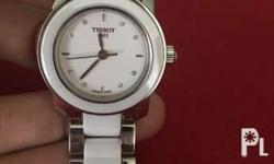 Tissot T-trend White Ceramic Diamond Ladies Watch No