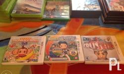 All original 3DS cartridges complete with manual. Super