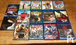 Assorted original Blu-ray Movies for Sale. All single