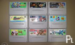 For sale original famicom games. In good working