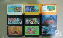 For sale original family computer games. In good