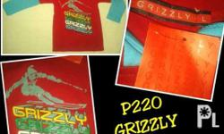 Authentic GRIZZLY tshirts and poloshirts, cheaper than