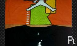 For sale as pack Original jordan shirts Black shirt has
