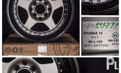 Brand New Kyusha model Black rims with Silver rivets