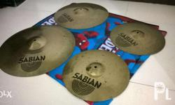 2nd hand aax sabian cymbals sold as set only!! pair of