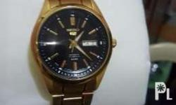 Seiko 5 automatic Gold plated watch from saudi arabia.