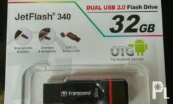 Transcend 32gb Dual USB 2.0 and micro USB For smart