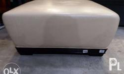 ottoman leatherette color cream brand new