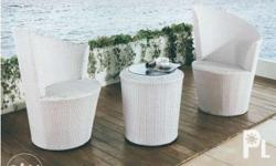 A high quality - (Two) 1 seater Synthetic Flat Rattan