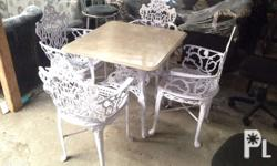 4 seater Garden set Material : Aluminum and pure