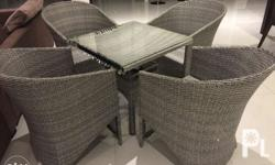 Heritage table with four chairs Ideal for outdoor