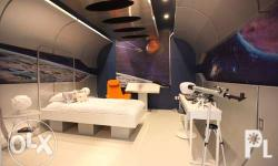 Outer space or galaxy theme bedroom is a timeless