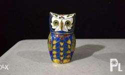 Owl figurine metal two face Ship or meet pwed Quezon