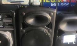 Mobile public address system with built in amplifier ,