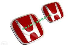 Pair of Red HEmblem for Honda Jazz GD 2003 to 2007