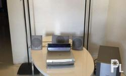 home theatre speakers and dvd including sub/woofer.