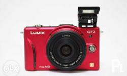 Selling my 1 and 1/2 year old Lumix GF 2 camera. Unit