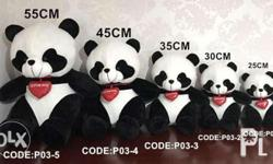 Panda with heart stuff toys Perfect gift for your love