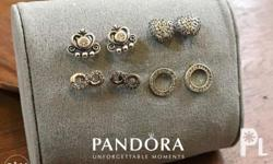 Pandora Stud Earrings With pouch Pm for Inquiries
