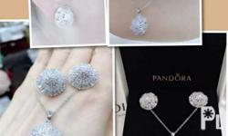 Pandora Set Made in Bangkok Hi-quality 18k white gold