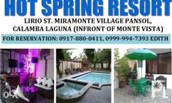 private hot spring resort for rent - It can accomodate