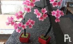 Realistic Cherry Blossom Bonsai Tree Made with Paper