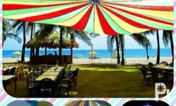 Parachute tent perfect for garden wedding events