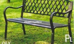 A329 Park Bench. Wrought Iron. Ideal for outdoor.