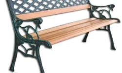 JIT 0478 Park Bench. Made of wrought iron and hardwood