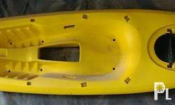 13.3 feet partly glass bottom kayak Sit in top Width 30