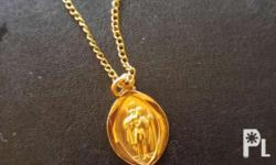 9ct Gold Pendant and chain Hallmarked stamped. St