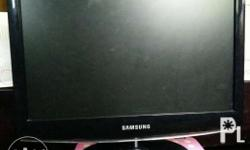 This is a slightly-used SAMSUNG computer flat-screen
