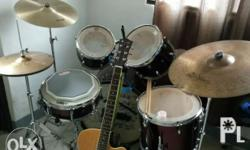 Pdp drumset with sabian hi hats stagg crash and avedis