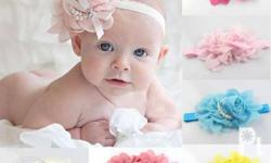 Pearl Chiffon Baby Headbands 130 each Colors: pink