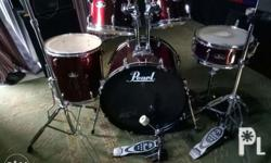 Pearl drumset as is poh ito no cymbals include