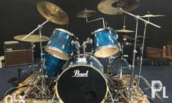 Pearl EXR Drum set Two extra Pearl Symbol Stands With