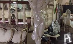 Pearl white and gold statue decor 35 Each Gold (1