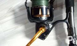 Penn Slammer III and Penn Carnage spinning jigging rod.
