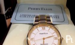 Brand New - Perry Ellis Watch 2tone in gold and silver