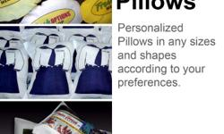 We produce personalized Pillows. We have Regular Size