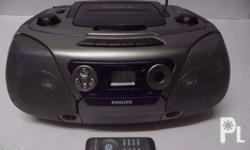 Philips CD Boombox with Cassette and USB Recording Call