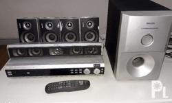 Philips Home Theatre System - Complete with Sub woofer