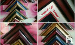 We fabricate picture frame Wood material Also available
