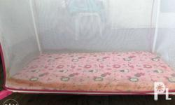 Pink playpen Good condition except sa stain.. Swap ok