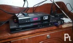 A nearly new pionerr blu ray dvd player with remote