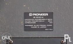 Pioneer Bookshelf Speaker S-101 Custom Maximum Power: