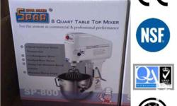 SPAR Heavy Duty Planetary Mixer 8qts (Made in Taiwan)