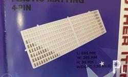 -Plastic matting -Made from virgin materials -Commonly