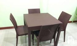 Plastic Rattan Table and Chair SET Good for
