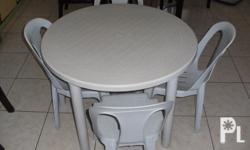 Plastic Round Table 4 Chairs Dumaguete City For Sale In